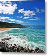 Waimea Bay Metal Print by Ty Helbach