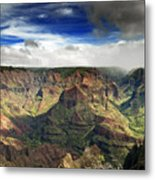 Waimea Canyon Hawaii Kauai Metal Print by Brendan Reals
