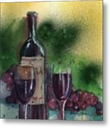 Wine For Two Metal Print by Sharon Mick