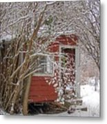 Winter Reading Room Metal Print by Kristine Nora