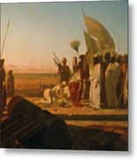 Xerxes At The Hellespont Metal Print by Jean Adrien Guignet