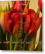 You Make Beautiful Music Together Metal Print by Dania Reichmuth