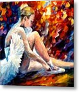 Young Ballerina Metal Print by Leonid Afremov
