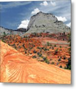 Zion National Park As A Storm Rolls In Metal Print by Christine Till