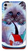 Clarice Cliff Tea Time Himi IPhone Case by L Risor