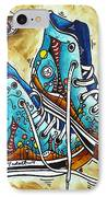 Whimsical Shoes By Madart IPhone Case by Megan Duncanson