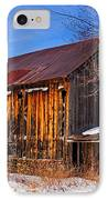 Winter Barn - Chatham New Hampshire IPhone Case by Thomas Schoeller