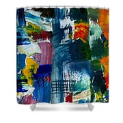 Abstract Color Relationships L Shower Curtain by Michelle Calkins