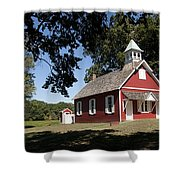 Little Red School House  Shower Curtain by Charles Kraus