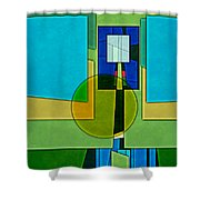 Abstract Shapes Color Two Shower Curtain by Gary Grayson