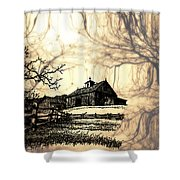 Barn Out Back 2 Shower Curtain by Cheryl Young