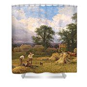 Harvest Time Shower Curtain by GV Cole