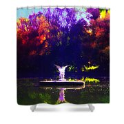 Lake Angel St. Mary's Ambler Shower Curtain by Bill Cannon