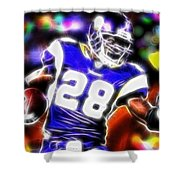 Magical Adrian Peterson   Shower Curtain by Paul Van Scott