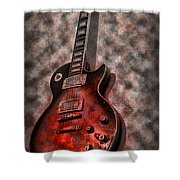 Me And My Les Paul Shower Curtain by Bill Cannon