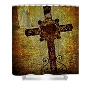 Old Cross Shower Curtain by Perry Webster