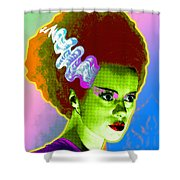 The Monster's Bride Shower Curtain by Gary Grayson