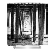Under The Pier Shower Curtain by Linda Woods