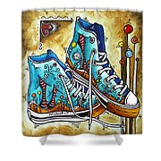 Whimsical Shoes By Madart Shower Curtain by Megan Duncanson