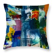 Abstract Color Relationships L Throw Pillow by Michelle Calkins