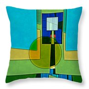 Abstract Shapes Color Two Throw Pillow by Gary Grayson