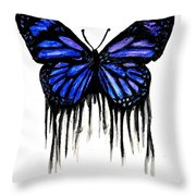 Butterfly Tears Throw Pillow by Mike Grubb