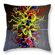 Chihuly Palm Springs 1 Throw Pillow by Randall Weidner