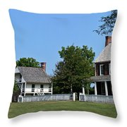 Clover Hill Tavern Appomattox Court House Virginia Throw Pillow by Teresa Mucha