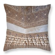 Colorful Carved Corner Throw Pillow by Lorraine Devon Wilke