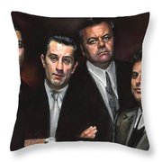 Goodfellas Throw Pillow by Ylli Haruni