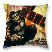 King Kong Poster, 1933 Throw Pillow by Granger