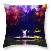 Lake Angel St. Mary's Ambler Throw Pillow by Bill Cannon