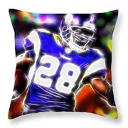 Magical Adrian Peterson   Throw Pillow by Paul Van Scott