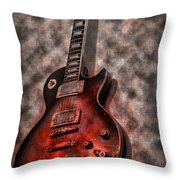 Me And My Les Paul Throw Pillow by Bill Cannon