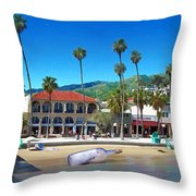 Message In A Bottle Throw Pillow by Snake Jagger