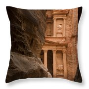 The Famous Treasury With A Camel Throw Pillow by Taylor S. Kennedy