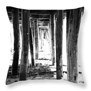 Under The Pier Throw Pillow by Linda Woods