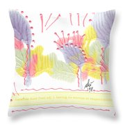 Wonderfully Carefree Throw Pillow by Angela L Walker