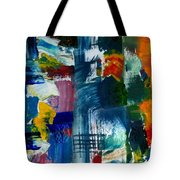 Abstract Color Relationships L Tote Bag by Michelle Calkins