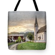 Country Church Tote Bag by Debra and Dave Vanderlaan