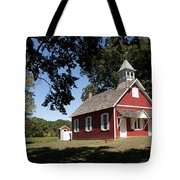 Little Red School House  Tote Bag by Charles Kraus