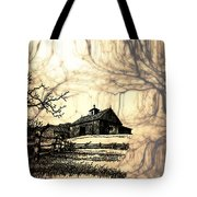Barn Out Back 2 Tote Bag by Cheryl Young