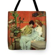 Confidences Tote Bag by Sir Lawrence Alma-Tadema