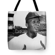 Curt Flood (1938- ) Tote Bag by Granger