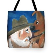 Mans Best Mate Tote Bag by Caroline Peacock