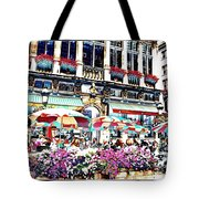 Sunny Day On The Grand Place Tote Bag by Carol Groenen