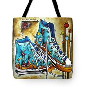 Whimsical Shoes By Madart Tote Bag by Megan Duncanson