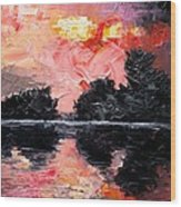 Sunset. After Storm. Wood Print by Sergey Bezhinets