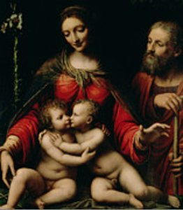 Bernardino Luini - The Holy Family with the Infant St. John