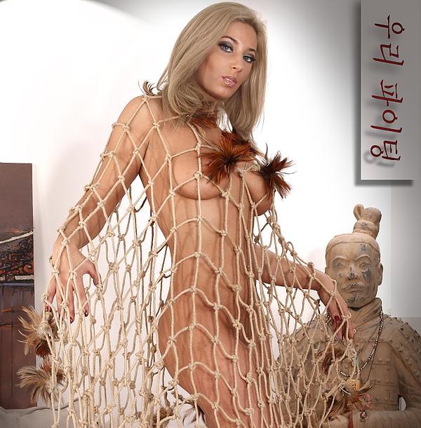 Art Nude  Pyrography -  Art Nude A by Emil Jianu